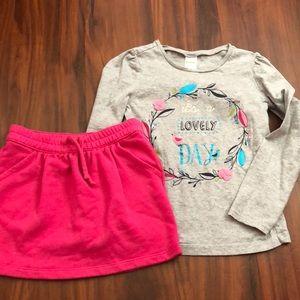 Gymboree set skirt and shirt